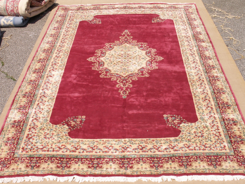Rra 12x20 Persian Design Rug Cranberry Ivory 22305