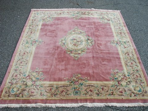 Oriental Rug Liquidators Item - RRA 12x14 Pink / Rose Aubusson Rug Carpet Floral 29728 EBay